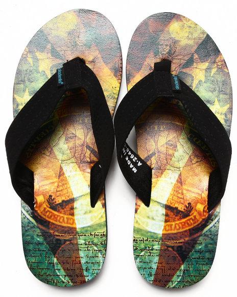 Akademiks - Men Multi Da Vinci Sublimation Flip-Flop - $13.99