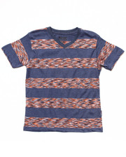 Tops - SPACE DYE STRIPE V-NECK TEE (8-20)