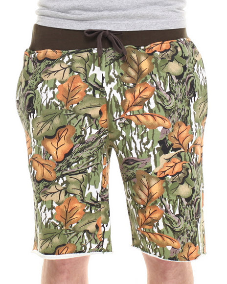 Buyers Picks - Men Forest Green Director's Cut Leaves Shorts