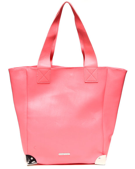 Rampage Pyramid Hardware Tote Coral