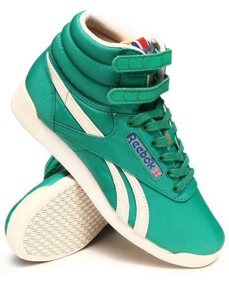 Reebok Green Freestyle Hi Vintage Inspired Sneakers