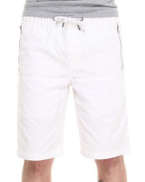 Buyers Picks - Men White Director's Cut  Faux Snake Print Drawstring Shorts - $16.99