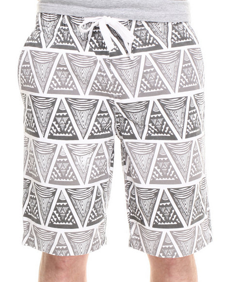 Buyers Picks - Men White Director's Cut  Tribe Drawstring Shorts - $16.99