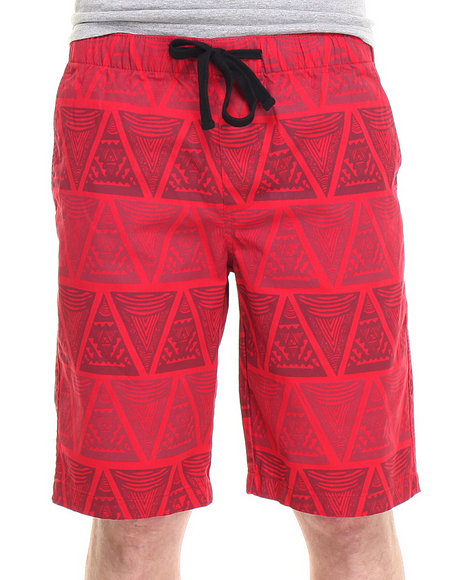 Buyers Picks - Men Red Director's Cut Tribe Drawstring Shorts