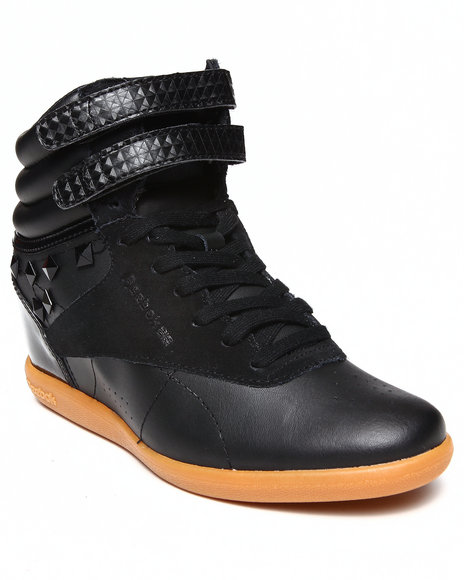 Reebok Black Freestyle Hi Int Wedge Sneakers