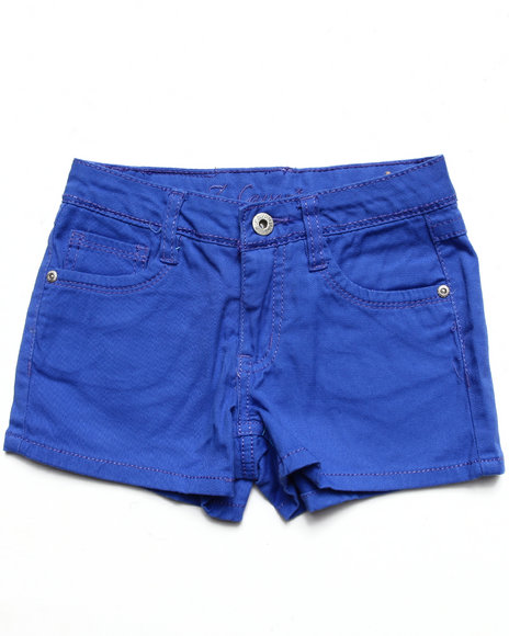 La Galleria Girls Blue Basic Twill Shorts (7-16)
