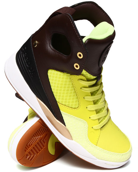 Reebok Neon Green,Brown Alicia Keys Court Sneakers