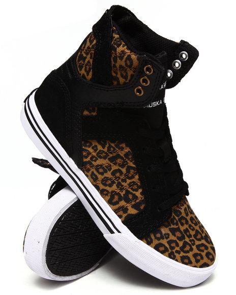 Supra Boys Animal Print Cheetah Skytop Sneakers (11-6)
