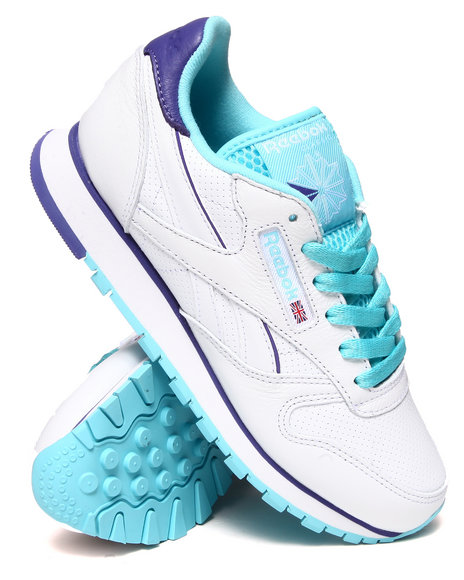 Reebok Blue,White Classic Leather Perf Sneakers