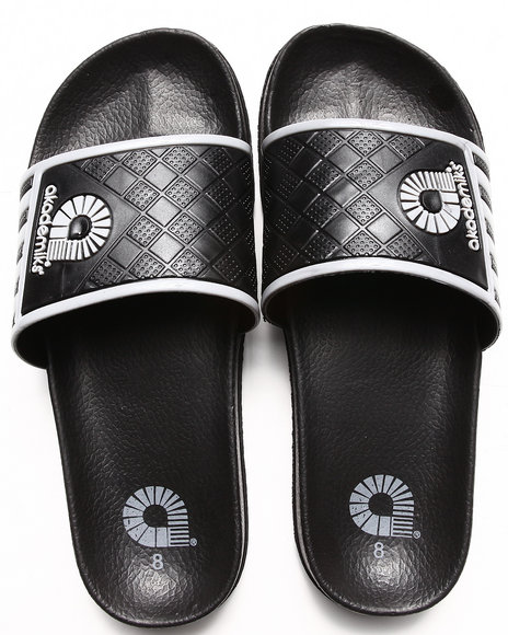 Akademiks Grey Neal Side Stripe Slip On Sandal