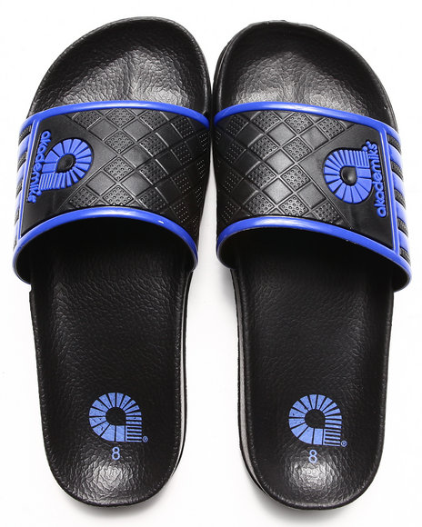Akademiks Blue Neal Side Stripe Slip On Sandal