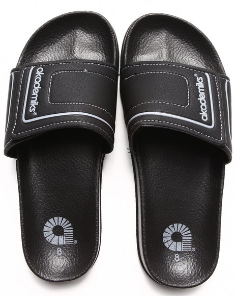 Akademiks Grey Max Adjustable Slip On Sandal
