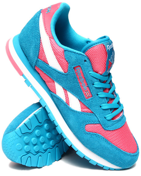 Reebok Pink,Blue Classic Leather Seasonal Sneakers
