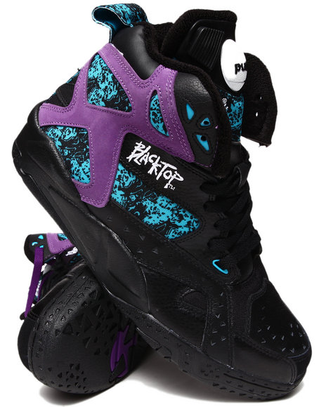 Reebok Black,Purple Blacktop Battleground Sneakers *Limited Edition*
