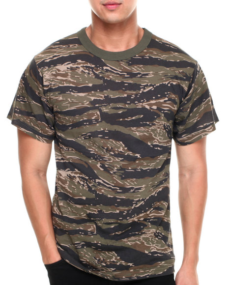 Drj Army/Navy Shop - Men Animal Print,Camo Tiger Stripe Camo S/S Tee