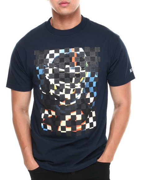 Hall of Fame Navy Checker Tee