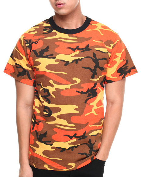 Drj Army/Navy Shop - Men Camo Savage Orange Camo S/S Tee