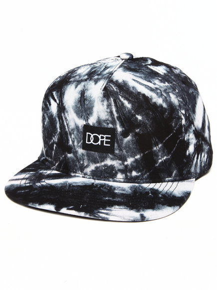 Dope Men Tie-Dye Snapback Black