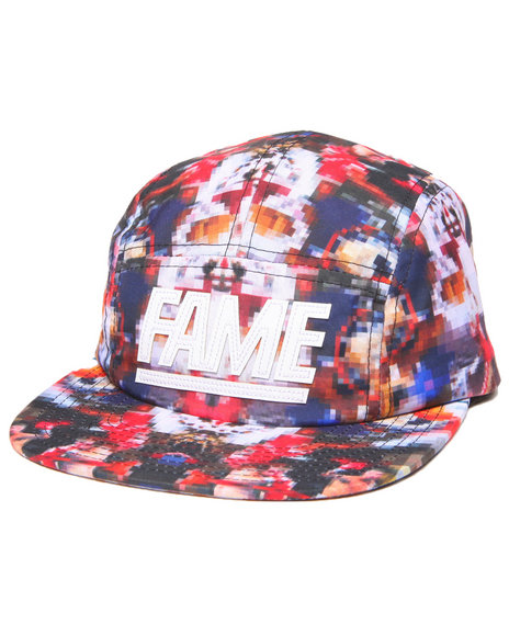 Hall Of Fame Men Leather Block 5-Panel Cap Multi - $19.99