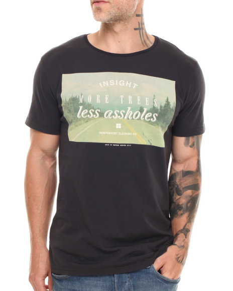 Insight - Men Black More Trees T-Shirt