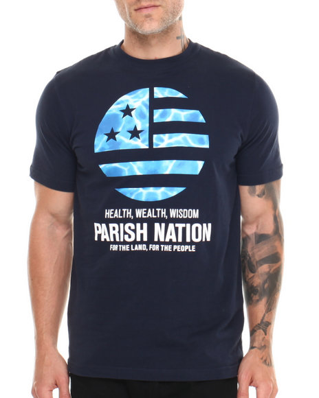 Parish Navy Circle Graphic T-Shirt