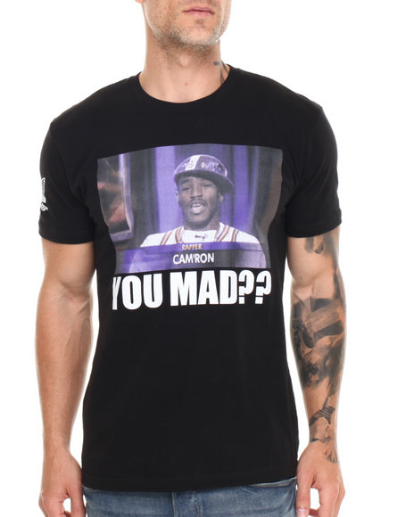Diplomats - Men Black Camron You Mad?? Tee - $25.99