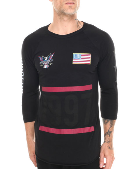 Diplomats - Men Black Dipset Usa 1997 Baseball Raglan Tee