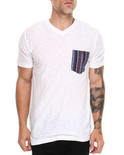 Men - Jacquard 2 Pocket reverse slub crewneck Tee