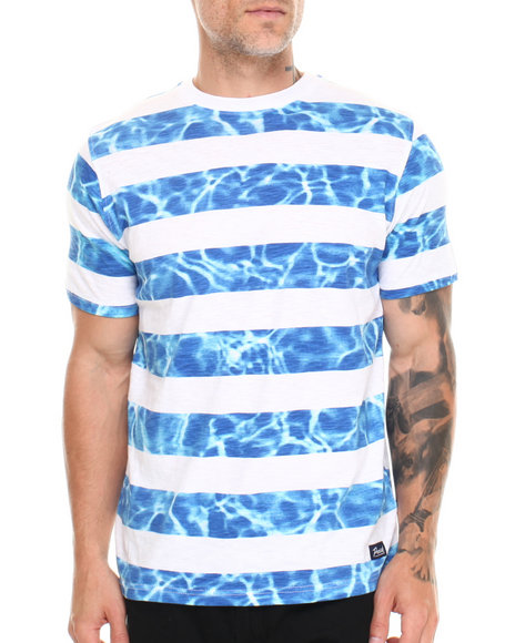 Parish Blue Beach Stripe T-Shirt