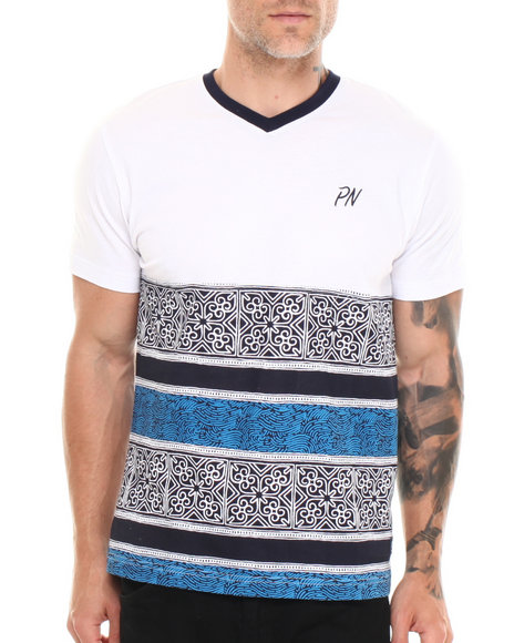 Parish Navy Batik T-Shirt