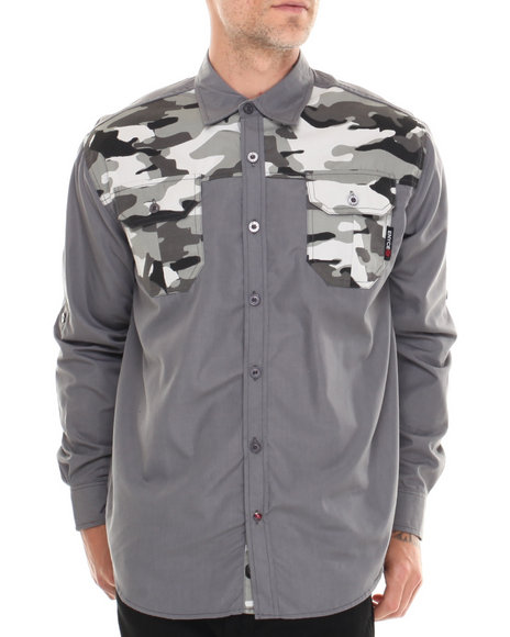 Enyce Grey Sniper L/S Button-Down