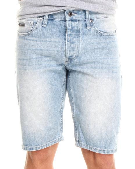Parish - Men Light Wash Kickback Denim Shorts