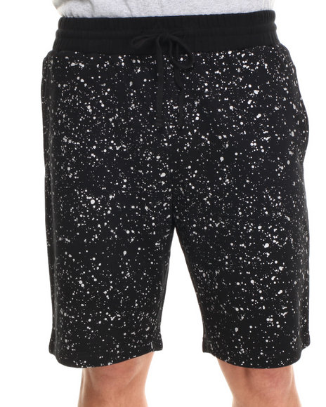 DOPE Black Splatter Sweatshort
