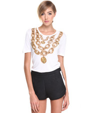 Versace Jeans - Gold Chain Graphic Tee