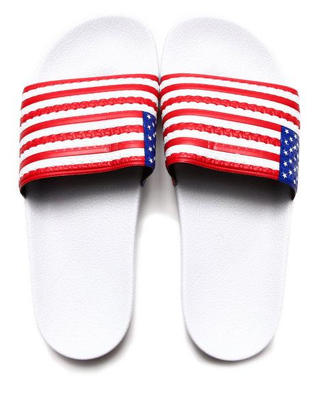 Adidas White Adilette Usa Sandals