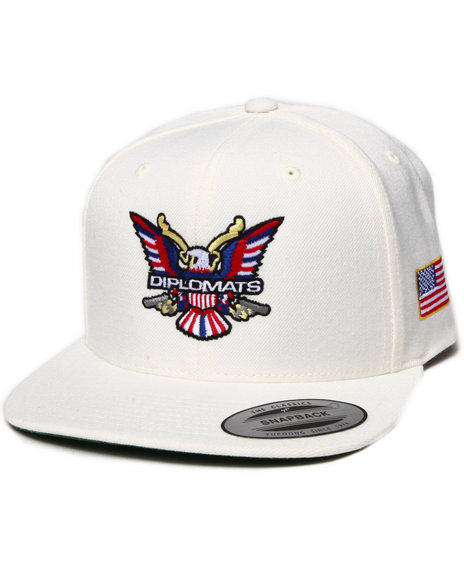 Diplomats Diplomats Og Eagle Snapback Cap White