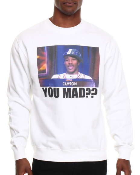 Diplomats - Men White Camron You Mad?? Crewneck Sweatshirt