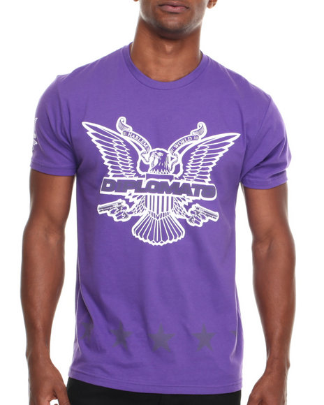 Diplomats - Men Purple Dipset Usa Star Eagle Tee