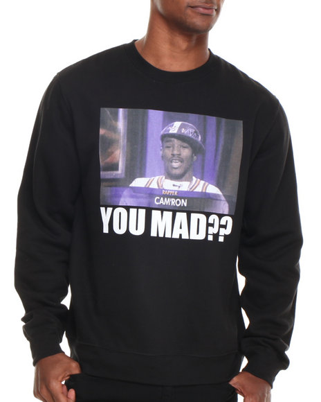 Diplomats - Men Black Camron You Mad?? Crewneck Sweatshirt