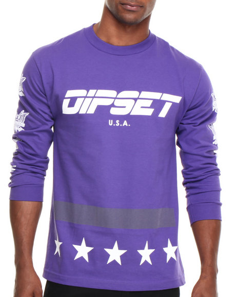 Diplomats Purple Dipset Usa Official L/S Tee