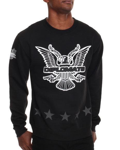 Diplomats Black Dipset Usa Star Eagle Crewneck Sweatshirt