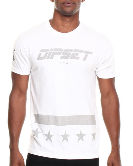 Diplomats - Men White Dipset Usa Official Tee - $22.99