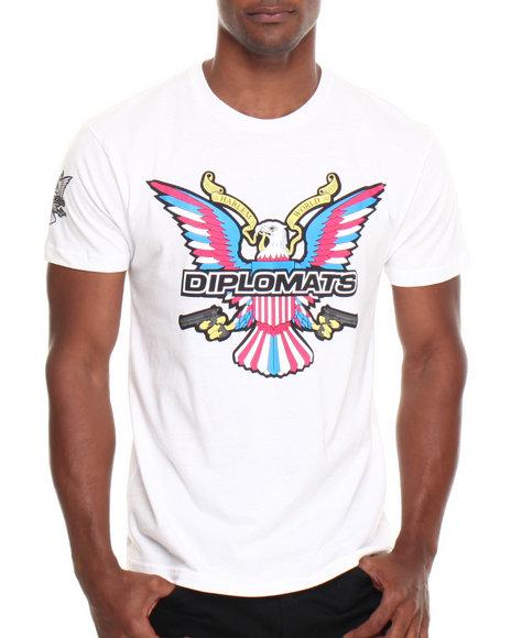 Diplomats - Men White Dipset Usa Og Logo Tee