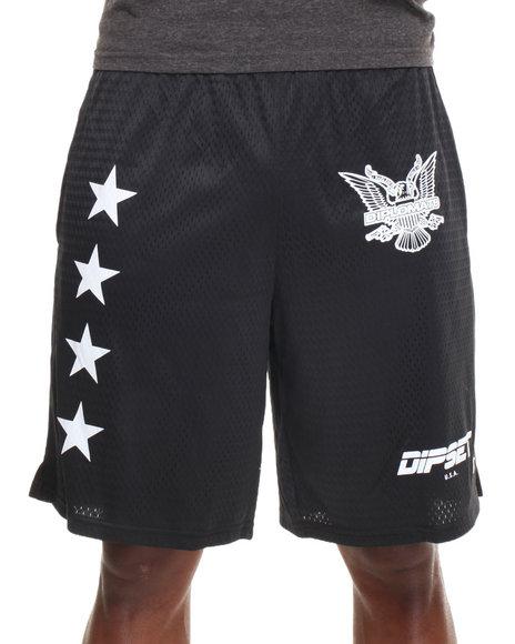 Diplomats Black Dipset Usa Official Mesh Shorts