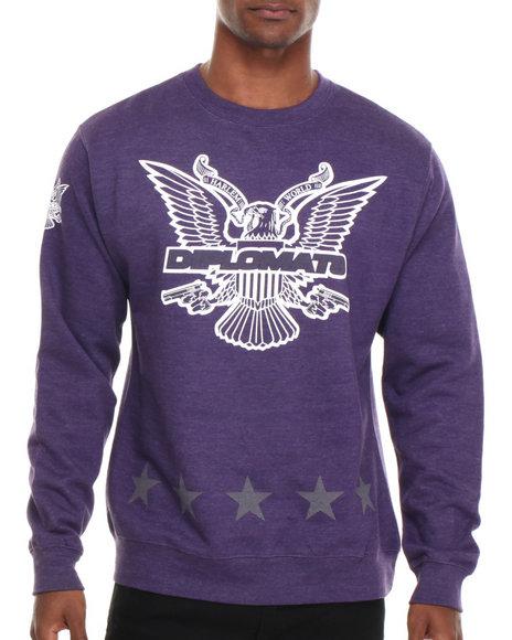 Diplomats Purple Dipset Usa Star Eagle Crewneck Sweatshirt
