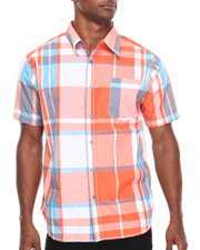 Basic Essentials - Summer Plaid S/S Button-Down