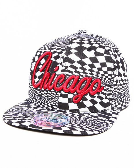 Buyers Picks Men Chicago Allover Print Phychadelc City Snapback Black