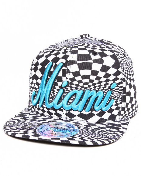 Buyers Picks Men Miami Allover Print Phychadelc City Snapback Black - $5.99