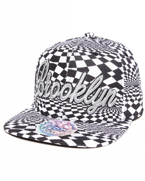 Buyers Picks Men Brooklyn Allover Print Phychadelc City Snapback Grey