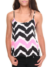 Women - Neon Chevron Print Tank Top